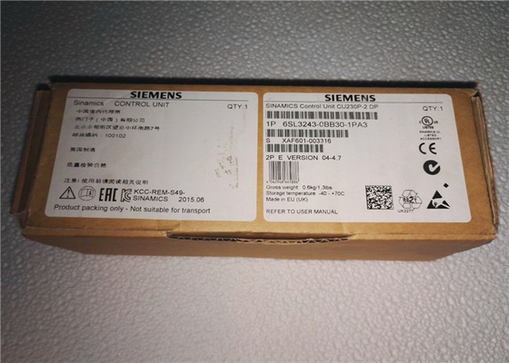 CU230P-2 Variable Frequency Inverter 6SL3243-0BB30-1PA3 Siemens