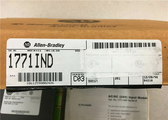 ALLEN-BRADLEY PLC-5 Digital Input Module 1771-IND WITH 1771-WH SWING ARM